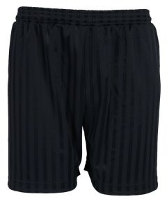 Black PE Shorts Shadow Stripe - Plain (No Logo)
