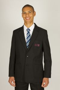 Boys Black Blazer - YEARS 12-13 ONLY - Embroidered with St Thomas More Catholic School (Blaydon) Initials