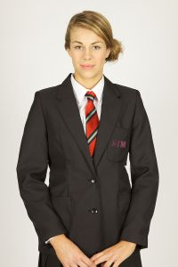 Black Girls  Blazer - YEARS 12-13 ONLY - Embroidered with St Thomas More Catholic School (Blaydon) Initials