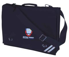 Navy Document Case - Embroidered with Bothal Primary School logo