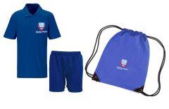 PE KIT (Polo, Shorts & PE Bag) - Embroidered with Bothal School logo