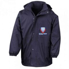 Navy Result Stormproof Coat - Embroidered with Bothal School logo