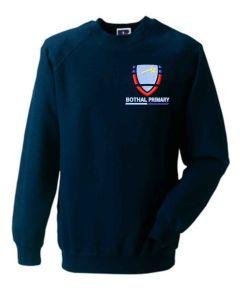 Navy Sweatshirt - Embroidered with Bothal School logo