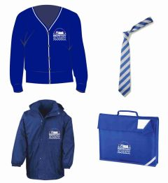 Cardigan, Tie, Coat & Book Bag *Special Deal* - Embroidered with Browney Academy School Logo