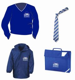 Jumper, Tie, Coat & Book Bag *Special Deal* - Embroidered with Browney Academy School Logo