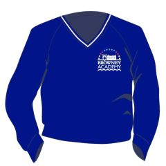 Royal/White Trim Jumper - Embroidered with Browney Academy School Logo