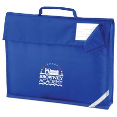 Royal Book Bag - Embroidered with Browney Academy School Logo
