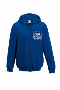 PE Zipped Hoodie - Embroidered With Browney Academy School Logo