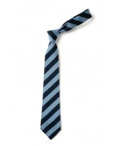 Navy/Sky Striped Holystone Primary School Tie