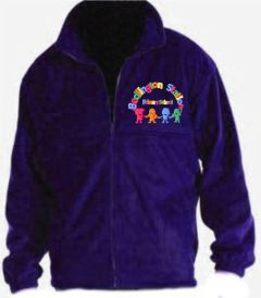 Purple Fleece - Embroidered with Bedlington Station Primary School Logo