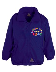 Purple Showerproof - Embroidered with Bedlington Station Primary School Logo