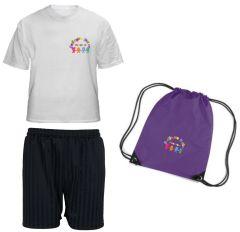 PE Kit Deal (T-shirt, Shorts & PE Bag) for Bedlington Station Primary School