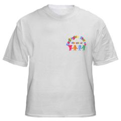 White PE T-Shirt - Embroidered with Bedlington Station Primary School