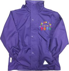 Purple Stormproof Coat - Embroidered with Bedlington Station Primary School Logo