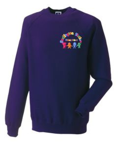 Purple Sweatshirt - Embroidered with Bedlington Station Primary School