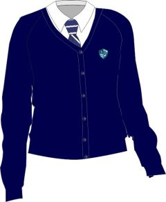 Girls Cardigan- Embroidered with Hermitage Academy Logo