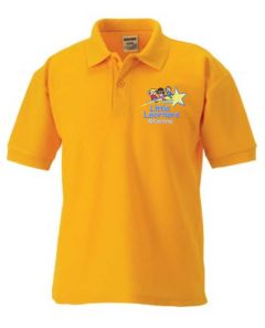 Gold Polo - Embroidered with Little Learners @ Central Primary School logo