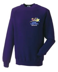 Purple Sweatshirt - Embroidered with Little Learners @ Central Primary School logo