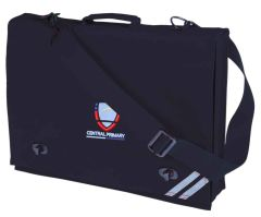 Navy Document Case - Embroidered with Central Primary School logo