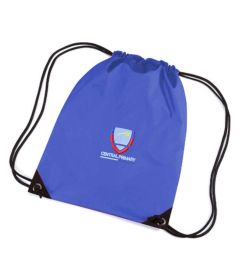 Navy PE Bag - Embroidered with Central Primary School logo
