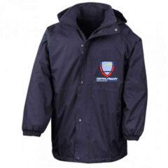 Navy Result Stormproof Coat - Embroidered with Central Primary School logo