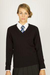Girls Black Knitted Jumper (no logo) - Optional