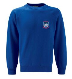 Royal Sweatshirt Crew Neck - With Chantry Middle School Logo