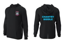 PE Hoodie - Embroidered with Chantry Middle School Logo + Printed on the Back