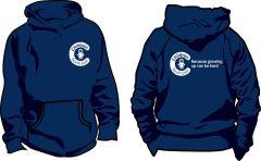 Navy Blue Hoodie - Printed Children North East Logo Front + Back