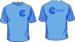 Sky Blue T-Shirt - Printed Children North East Logo Front + Back
