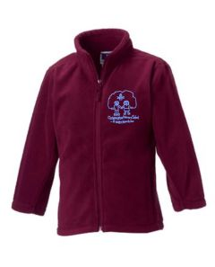 Burgundy Fleece - Embroidered with Choppington Primary School logo