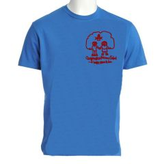 Sky PE T-Shirt - Embroidered with Choppington Primary School logo