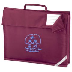 Burgundy Bookbag - Embroidered with School logo
