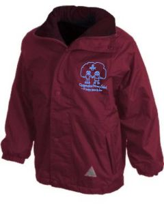 Burgundy Result Stormproof Coat - Embroidered with Choppington Primary School logo