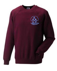 Claret Sweatshirt - Embroidered with Choppington Primary School logo