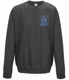 (Year 6 Only) Charcoal Sweatshirt - Embroidered with Choppington Primary School Logo
