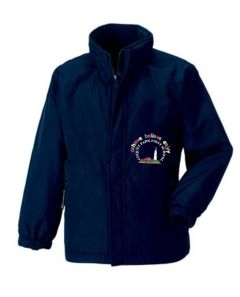 Navy Reversible School Jacket - Embroidered with Coquet Park First School Logo