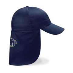 Navy Legionaire Cap - Embroidered with Coquet Park First School Logo on back