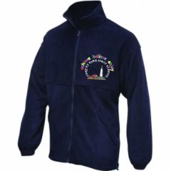 Navy Fleece - Embroidered with Coquet Park First School Logo