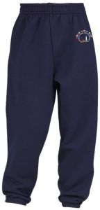 Navy Jog Bottoms - Embroidered with Coquet Park First School Logo