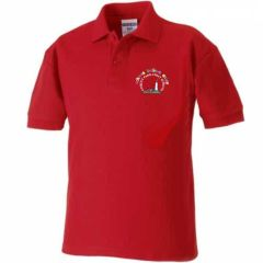 *NURSERY* Red Polo Shirt - Embroidered with Coquet Park First School Logo