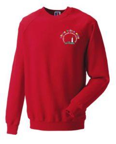 *NURSERY* Red Sweatshirt - Embroidered with Coquet Park First School Logo