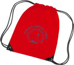 Red PE Bag - Printed with Coquet Park First School Logo