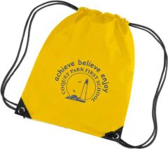 Yellow Swim Bag - Printed with Coquet Park First School Logo