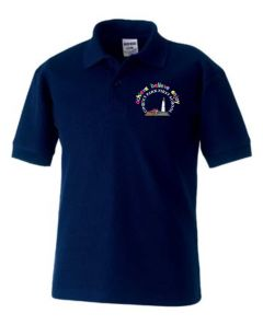 Navy Polo Shirt - Embroidered with Coquet Park First School Logo
