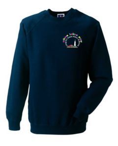 Navy Sweatshirt - Embroidered with Coquet Park First School Logo