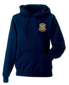 Navy Hoodie - Embroidered with Corbridge Middle School logo