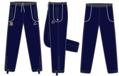 Navy Blue PE Track Bottoms - Embroidered with Corbridge Middle School logo