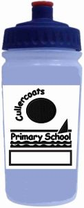 Water Bottle with Cullercoats Primary School Logo (Online Only)