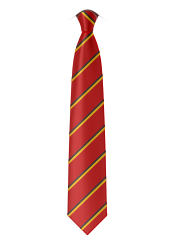 """Red/Yellow/Black 14"""" clip-on Tie (Year 5 only) for Whitley Memorial C of E Primary School"""